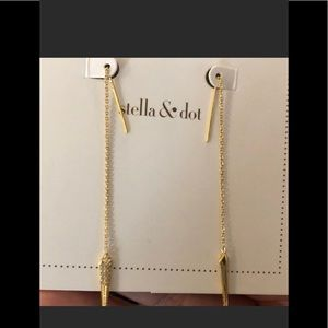 New in Box Stella & Dot Seine Threader Earrings